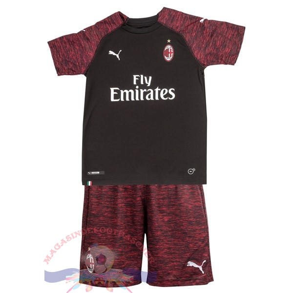 Magasin Foot PUMA Third Ensemble Enfant AC Milan 2018-2019 Noir