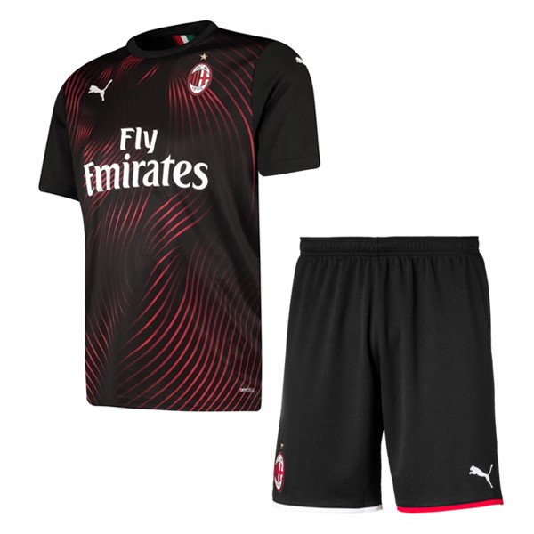 Magasin Foot PUMA Third Ensemble Enfant AC Milan 2019 2020 Rouge Noir