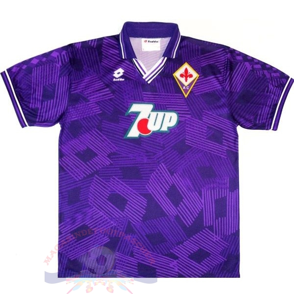 Magasin Foot Lotto Domicile Maillot Fiorentina Rétro 1992 1993 Purpura