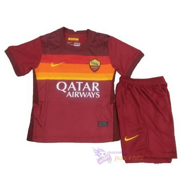 Magasin Foot Nike Domicile Conjunto De Enfant AS Roma 2020 2021 Rouge