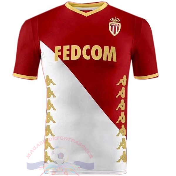 Magasin Foot Kappa DomiChili Maillot As Monaco 2019 2020 Rouge Blanc