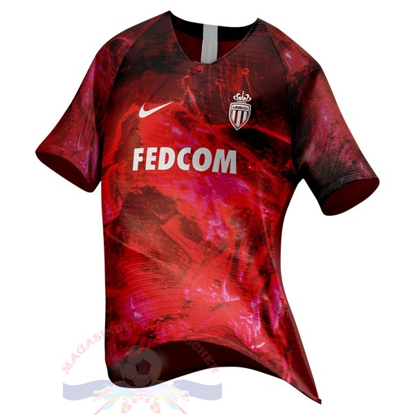Magasin Foot Nike Ea Sport Maillot As Monaco 2018 2019 Rouge