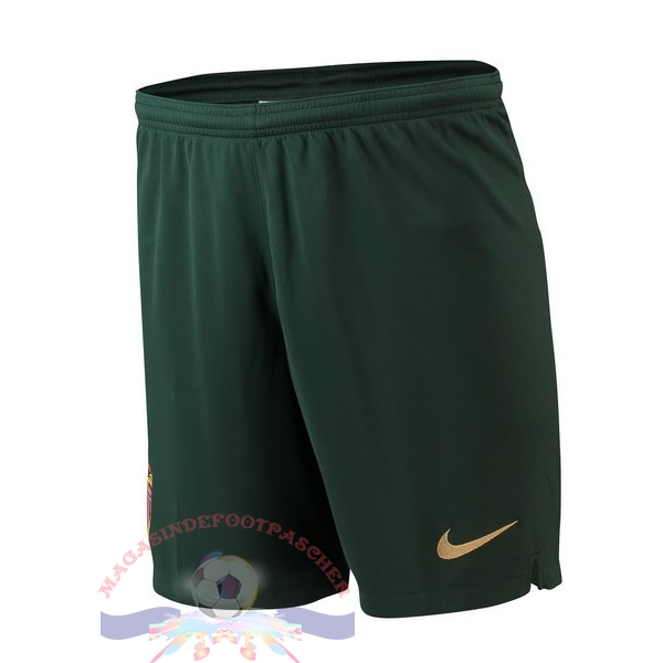 Magasin Foot Nike Exterieur Shorts AS Monaco 2018-2019 Vert