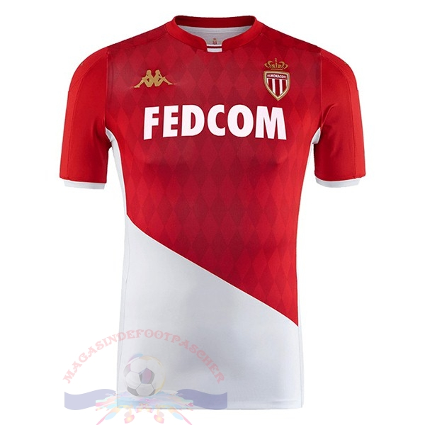 Magasin Foot Kappa Domicile Maillot AS Monaco 2019 2020 Rouge Blanc