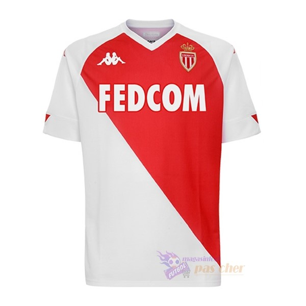 Magasin Foot Kappa Domicile Maillot AS Monaco 2020 2021 Rouge Blanc