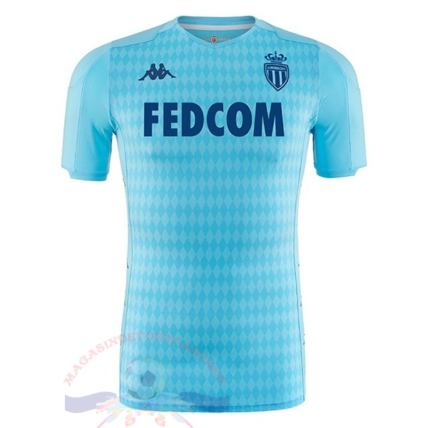 Magasin Foot Kappa Third Maillot AS Monaco 2019 2020 Bleu Clair