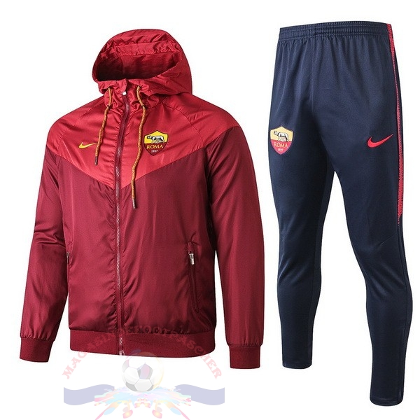 Magasin Foot Nike Ensemble Coupe Vent AS Roma 2019 2020 Rouge Bleu