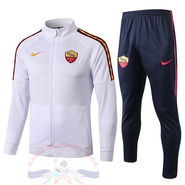 Magasin Foot Nike Survêtements AS Roma 2019 2020 Blanc Bleu