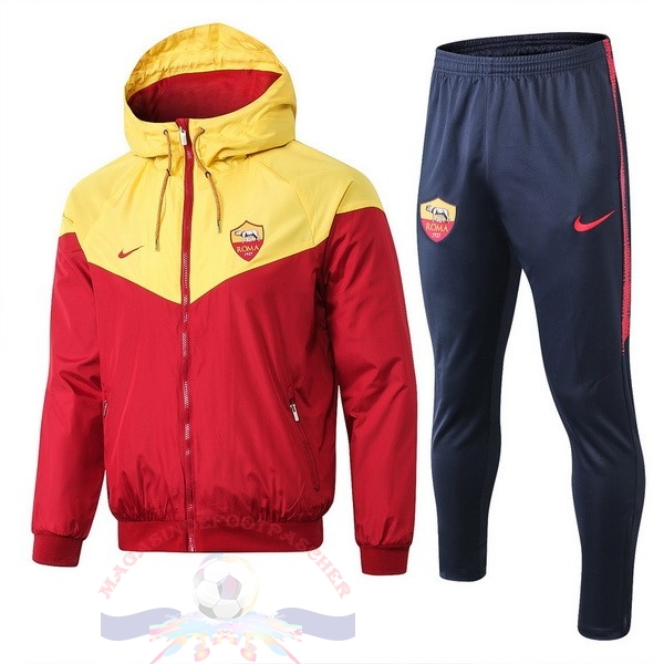 Magasin Foot Nike Ensemble Coupe Vent AS Roma 2019 2020 Rouge