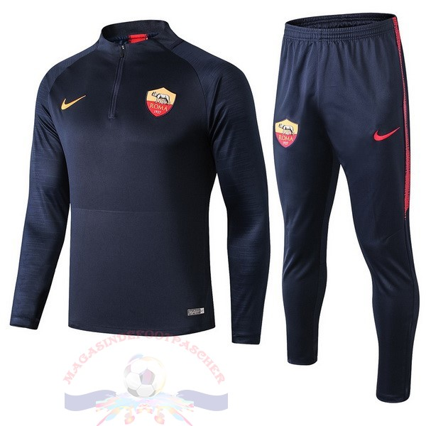 Magasin Foot Nike Survêtements AS Roma 2019 2020 Bleu Marine