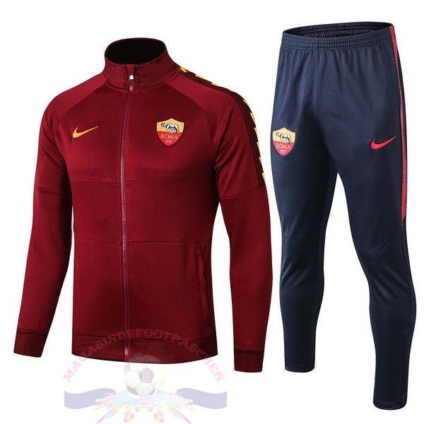 Magasin Foot Nike Survêtements Enfant AS Roma 2019 2020 Rouge Marine