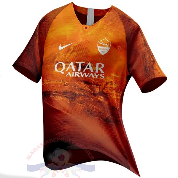 Magasin Foot Nike Ea Sport Maillot AS Roma 2018 2019 Orange