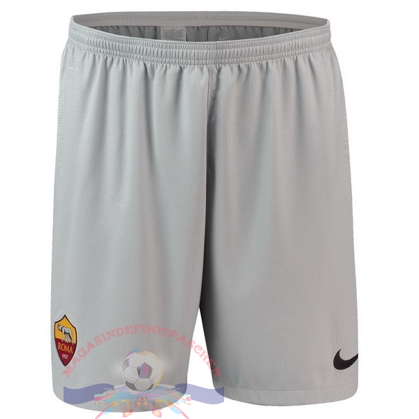 Magasin Foot Nike Exterieur Shorts As Roma 2018-2019 Gris