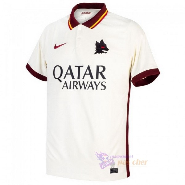 Magasin Foot Nike Exterieur Maillot As Roma 2020 2021 Blanc