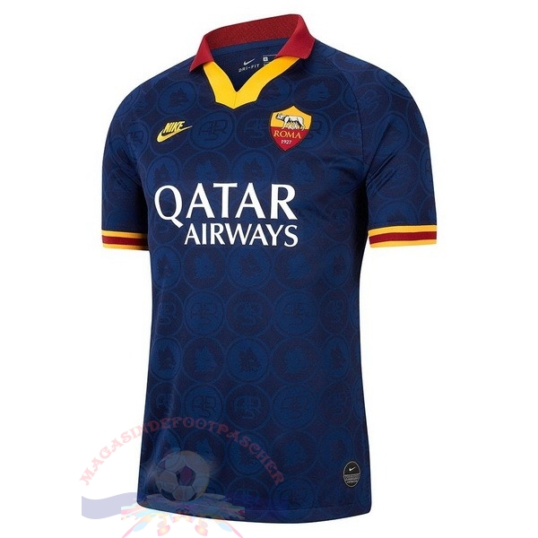 Magasin Foot Nike Thailande Third Maillot As Roma 2019 2020 Bleu Marine