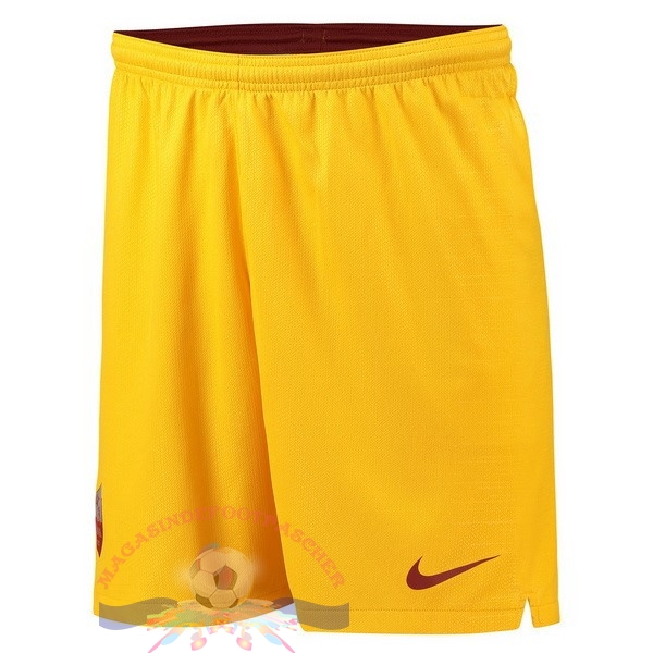 Magasin Foot Nike Third Shorts As Roma 18-19 Jaune