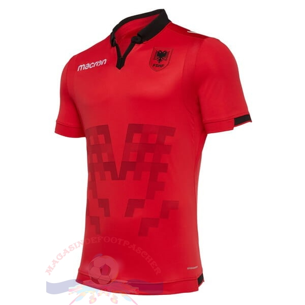 Magasin Foot Macron Domicile Maillot Albanie 2019 Rouge