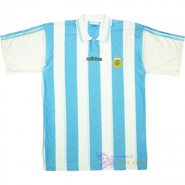 Magasin Foot adidas Domicile Maillot Argentine Retro 1994 Bleu