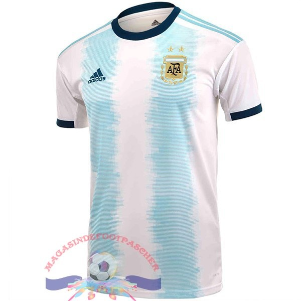 Magasin Foot Adidas Thailande DomiChili Maillot Argentine 2019 Blanc