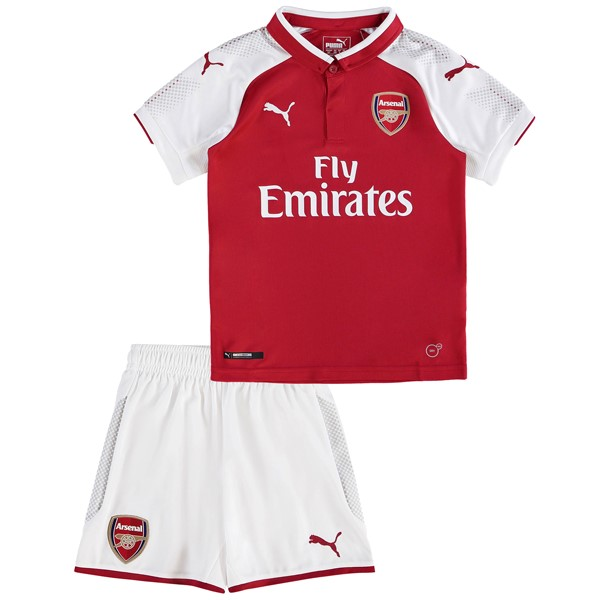 Magasin Foot PUMA Domicile Ensemble Enfant Arsenal 2017 2018 Blanc Rouge