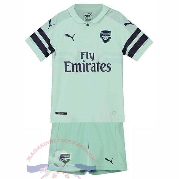 Magasin Foot PUMA Third Ensemble Enfant Arsenal 2018-2019 Vert