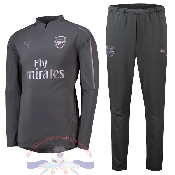 Magasin Foot PUMA Survêtements Enfant Arsenal 18-19 Gris