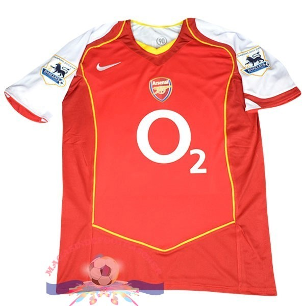 Magasin Foot Nike DomiChili Maillot Arsenal Vintage 2004 2005 Rouge