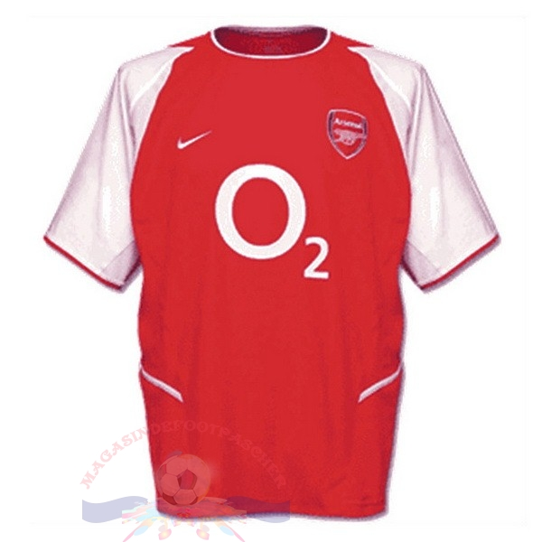 Magasin Foot Nike Domicile Maillot Arsenal Retro 2002 2003 Rouge