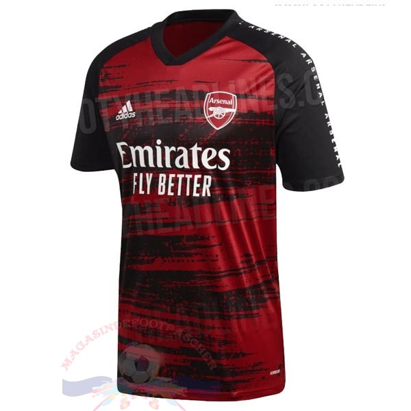 Magasin Foot adidas Pre Match Maillot Arsenal 2020 2021 Rouge