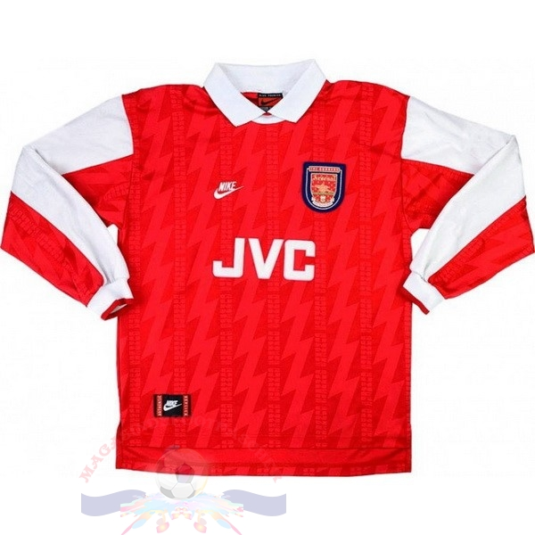 Magasin Foot Nike Domicile Manches Longues Arsenal Rétro 1994 1995 Rouge