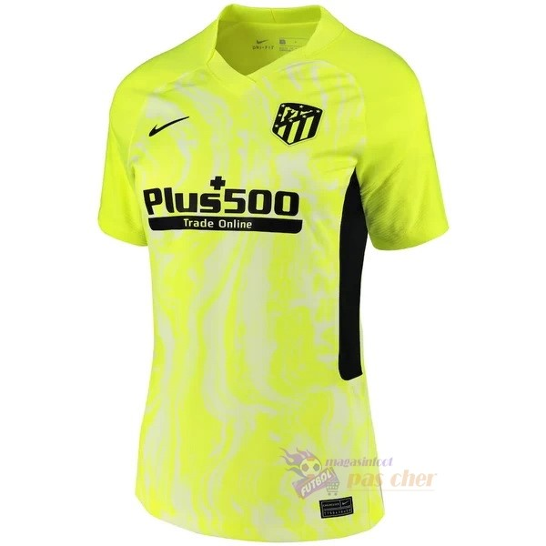 Magasin Foot Nike Third Maillot Femme Atlético Madrid 2020 2021 Vert Fluorescent
