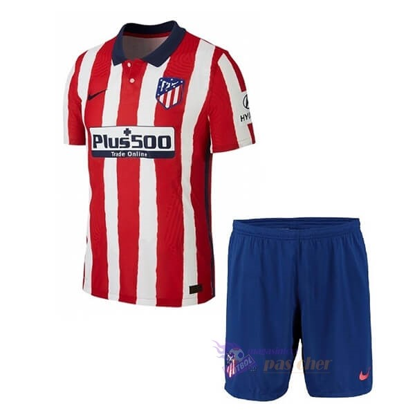 Magasin Foot Nike Domicile Ensemble Enfant Atlético de Madrid 2020 2021 Rouge