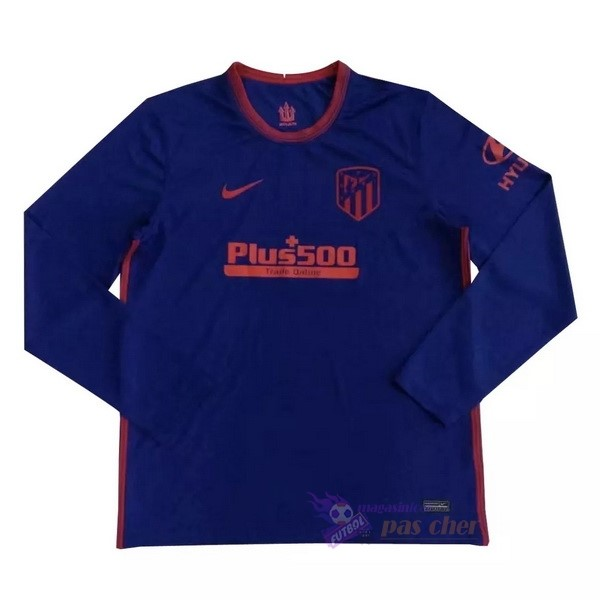 Magasin Foot Nike Exterieur Manches Longues Atlético Madrid 2020 2021 Bleu