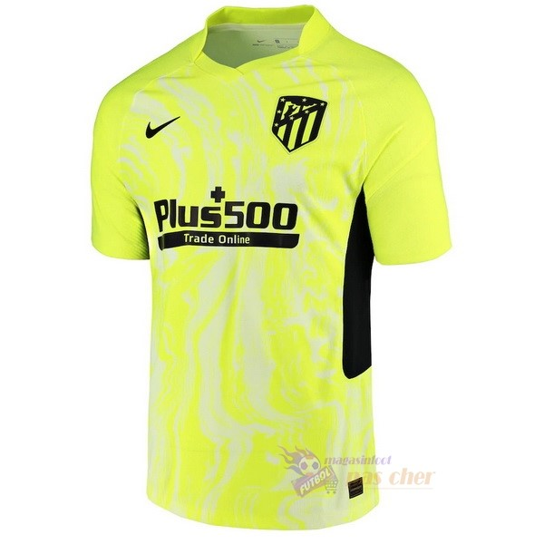 Magasin Foot Nike Third Maillot Atlético Madrid 2020 2021 Vert Fluorescent