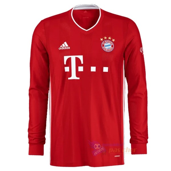 Magasin Foot adidas Domicile Manches Longues Bayern Munich 2020 2021 Rouge