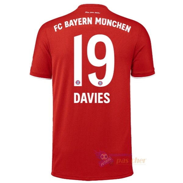 Magasin Foot adidas NO.19 Davies Domicile Maillot Bayern Munich 2020 2021 Rouge