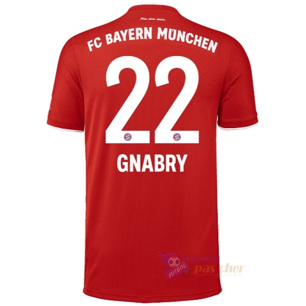 Magasin Foot adidas NO.22 Gnabry Domicile Maillot Bayern Munich 2020 2021 Rouge