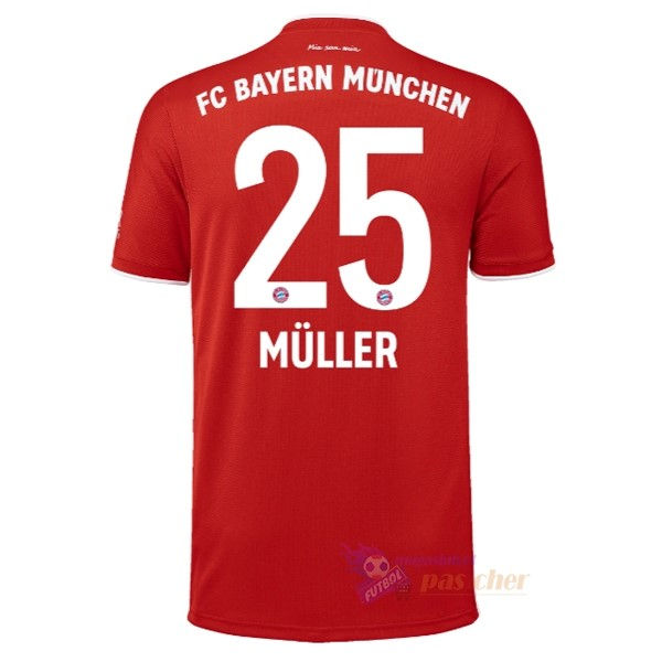 Magasin Foot adidas NO.25 Muller Domicile Maillot Bayern Munich 2020 2021 Rouge