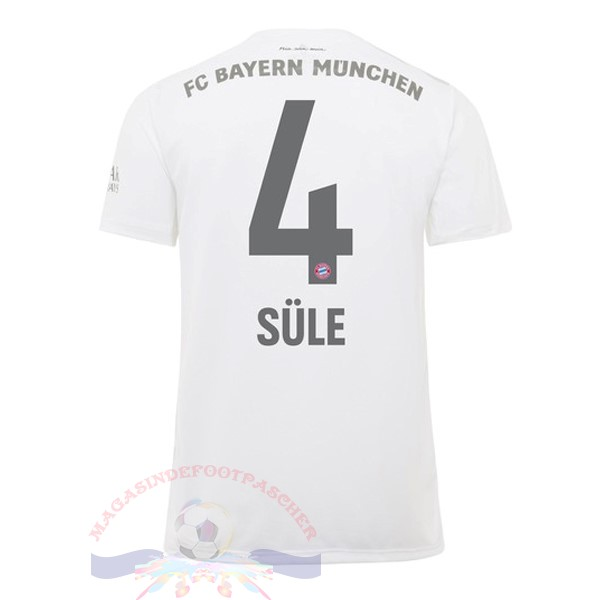 Magasin Foot adidas NO.4 Sule Exterieur Maillot Bayern Munich 2019 2020 Blanc