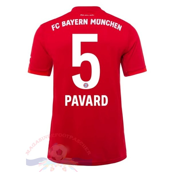 Magasin Foot adidas NO.5 Pavard Domicile Maillot Bayern Munich 2019 2020 Rouge