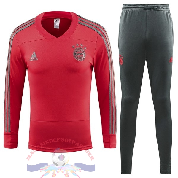 Magasin Foot adidas Survêtements Enfant Bayern Munich 18-19 Rouge
