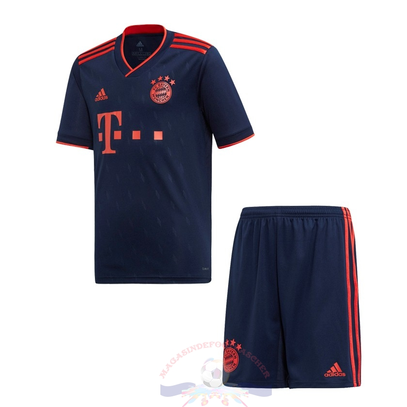 Magasin Foot adidas Third Ensemble Enfant Bayern Munich 2019 2020 Bleu Marine