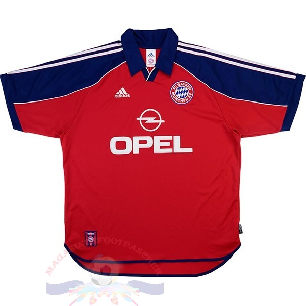Magasin Foot adidas Domicile Maillot Bayern Munich Retro 1999 2001 Rouge