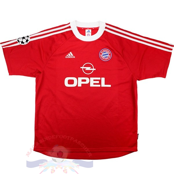 Magasin Foot adidas Domicile Maillot Bayern Munich Retro 2001 2002 Rouge