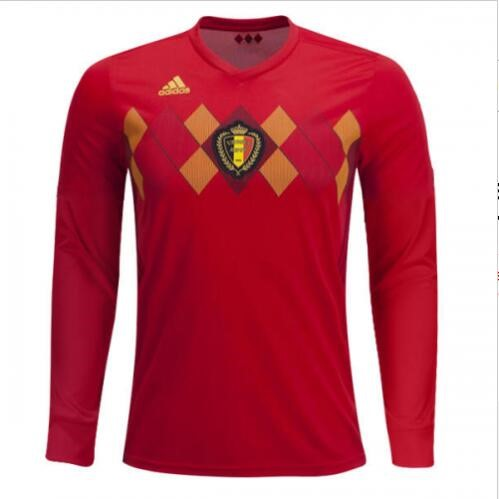 Magasin Foot adidas Domicile Maillots Manches Longues Belgica 2018 Rouge