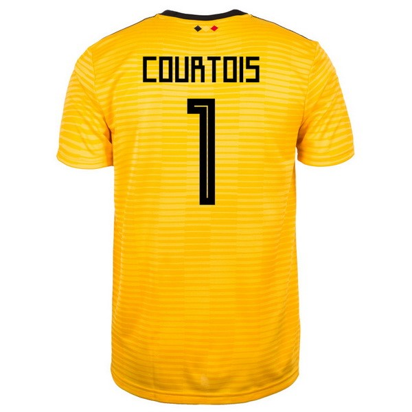 Magasin Foot adidas NO.1 Courtois Exterieur Maillots Belgica 2018 Jaune