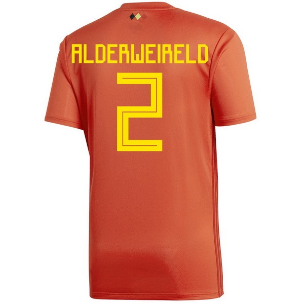 Magasin Foot adidas NO.2 Alderweireld Domicile Maillots Belgica 2018 Rouge