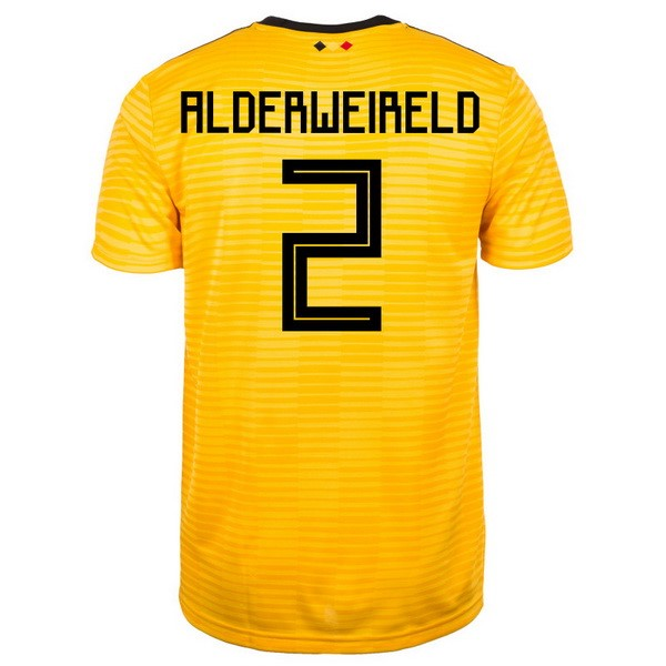Magasin Foot adidas NO.2 Alderweireld Exterieur Maillots Belgica 2018 Jaune