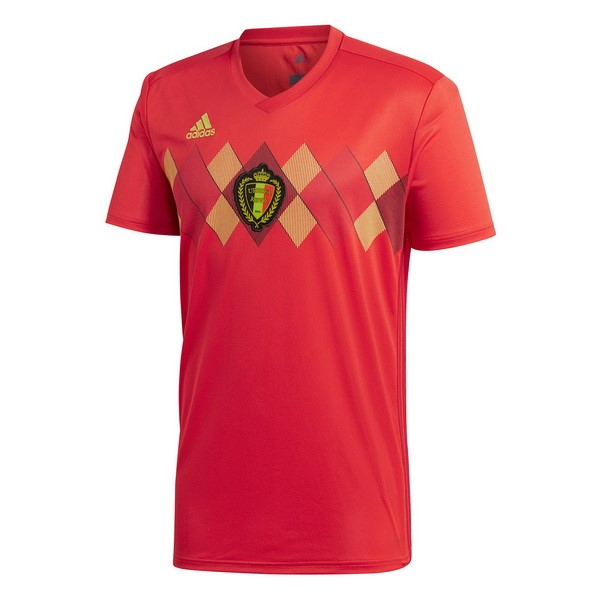 Magasin Foot adidas Thailande Domicile Maillots Belgica 2018 Rouge