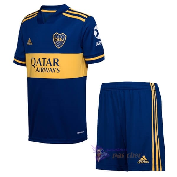 Magasin Foot adidas Domicile Ensemble Enfant Boca Juniors 2020 2021 Bleu